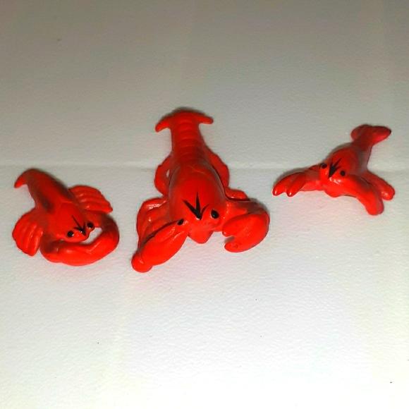 Vintage Set Of 3 Lobster Bone China